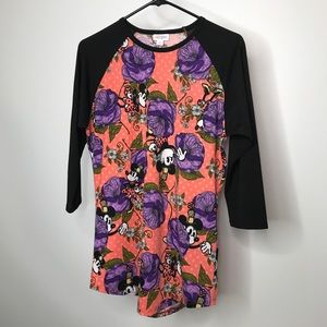 LuLaRoe Disney Randy Top Size Medium Minnie Mouse
